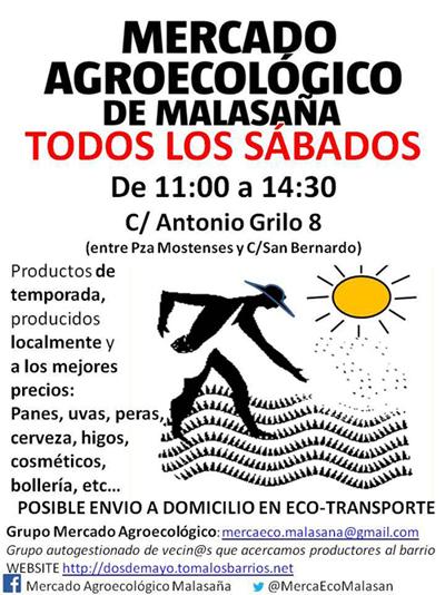 mercado agroecologico de malasana en madrid