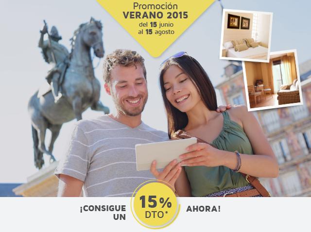 Promoción verano, 15% de descuento en en estudios y apartamentos de 1 habitación baratos de alquiler en madrid