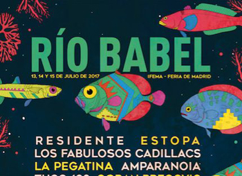 Cartel Rio Babel 2017 madrid