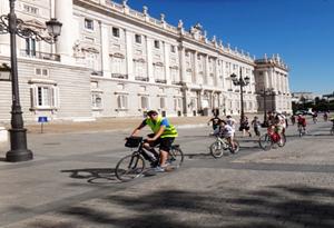 rutas en bicicleta palacio real madrid