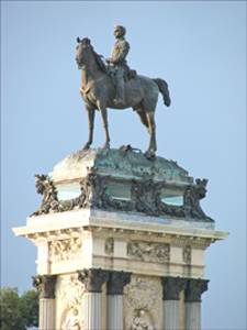 monumento ecuestre alfonso XII madrid