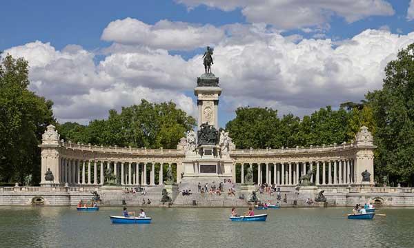madrid monumento alfonso XII retiro