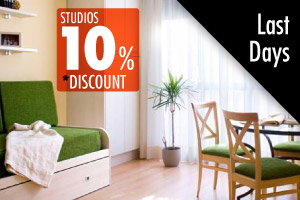 10% discount on rental prices of our studios