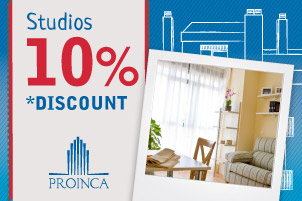 take 10% discount on rental prices of our studios
